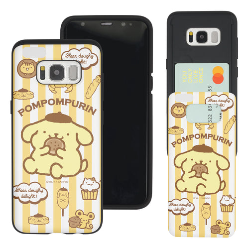 Galaxy Note5 Case Sanrio Slim Slider Card Slot Dual Layer Holder Bumper Cover - Pattern Pompompurin Big