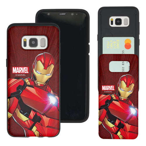 Galaxy S7 Edge Case Marvel Avengers Slim Slider Card Slot Dual Layer Holder Bumper Cover - Illustration Iron Man