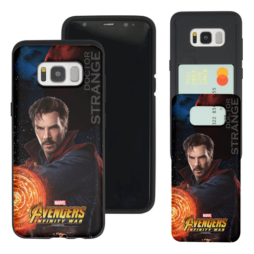 Galaxy S7 Edge Case Marvel Avengers Slim Slider Card Slot Dual Layer Holder Bumper Cover - Infinity War Doctor Strange