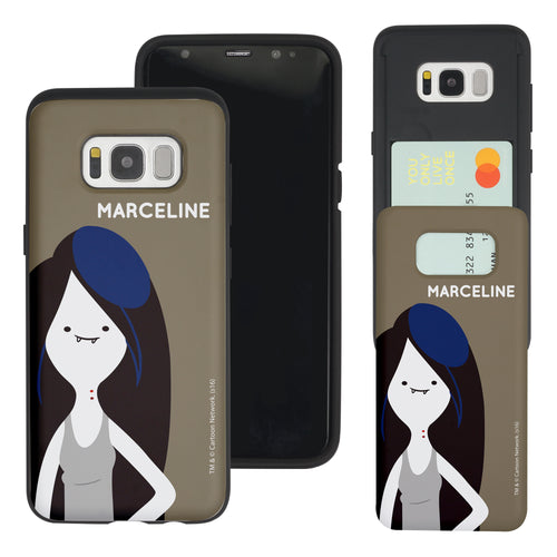 Galaxy S7 Edge Case Adventure Time Slim Slider Card Slot Dual Layer Holder Bumper Cover - Cuty Marceline