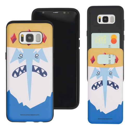Galaxy S7 Edge Case Adventure Time Slim Slider Card Slot Dual Layer Holder Bumper Cover - Ice King