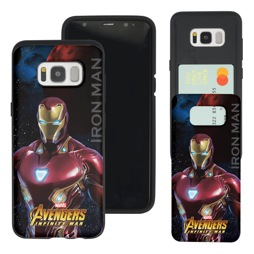 Galaxy S7 Edge Case Marvel Avengers Slim Slider Card Slot Dual Layer Holder Bumper Cover - Infinity War Iron Man