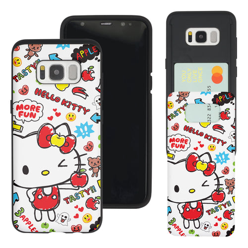Galaxy Note5 Case Sanrio Slim Slider Card Slot Dual Layer Holder Bumper Cover - Fun Hello Kitty