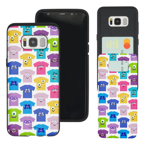 Galaxy S8 Plus Case Monsters University inc Slim Slider Card Slot Dual Layer Holder Bumper Cover - Pattern Shirts