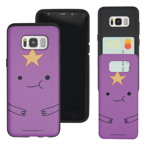 Galaxy S7 Edge Case Adventure Time Slim Slider Card Slot Dual Layer Holder Bumper Cover - Lumpy
