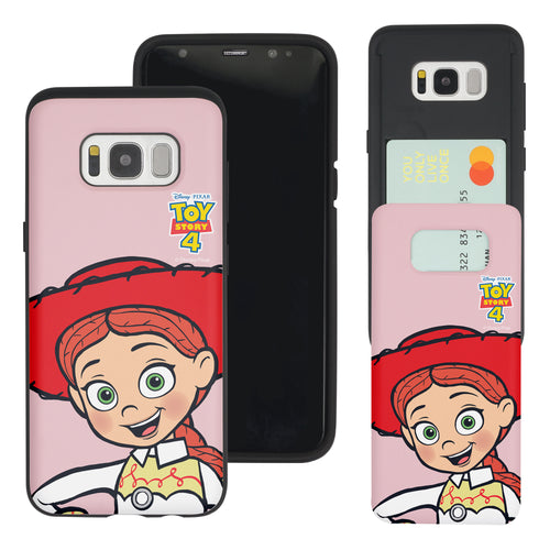 Galaxy S8 Plus Case Toy Story Slim Slider Card Slot Dual Layer Holder Bumper Cover - Wide Jessie
