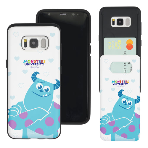 Galaxy S8 Plus Case Monsters University inc Slim Slider Card Slot Dual Layer Holder Bumper Cover - Full Sulley
