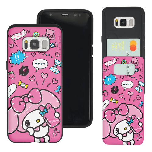 Galaxy S8 Case (5.8inch) Sanrio Slim Slider Card Slot Dual Layer Holder Bumper Cover - Selfie My Melody