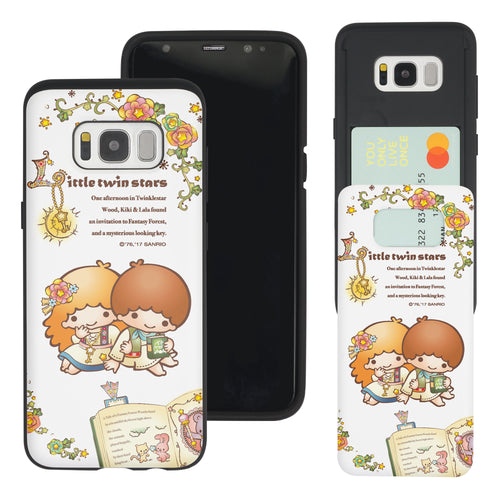 Galaxy Note5 Case Sanrio Slim Slider Card Slot Dual Layer Holder Bumper Cover - Little Twin Stars Book
