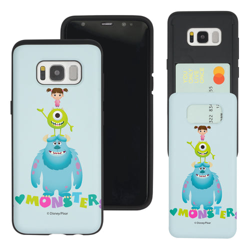 Galaxy S8 Plus Case Monsters University inc Slim Slider Card Slot Dual Layer Holder Bumper Cover - Simple Together