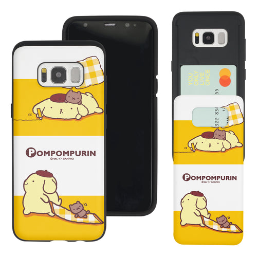 Galaxy Note5 Case Sanrio Slim Slider Card Slot Dual Layer Holder Bumper Cover - Pompompurin 2