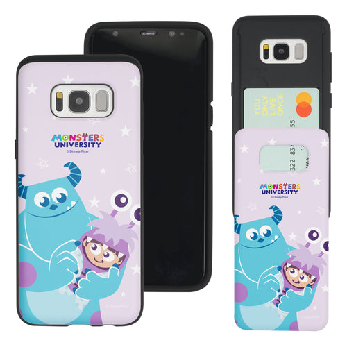 Galaxy S8 Plus Case Monsters University inc Slim Slider Card Slot Dual Layer Holder Bumper Cover - Full Boo