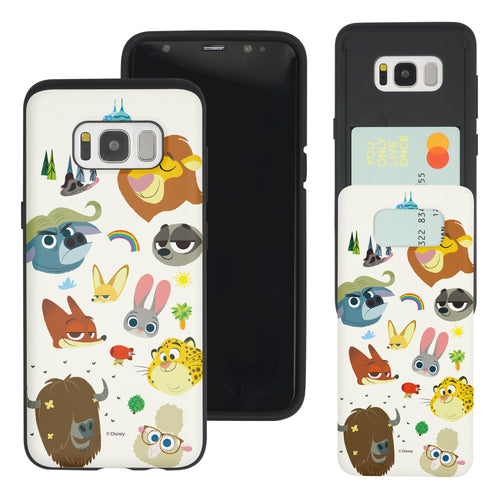 Galaxy S7 Edge Case Disney Zootopia Dual Layer Card Slide Slot Wallet Bumper Cover - Zootopia Small
