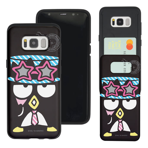 Galaxy S8 Case (5.8inch) Sanrio Slim Slider Card Slot Dual Layer Holder Bumper Cover - Bad Badtz-Maru Gentleman