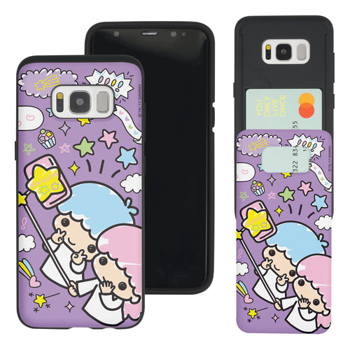 Galaxy Note5 Case Sanrio Slim Slider Card Slot Dual Layer Holder Bumper Cover - Selfie Little Twin Stars