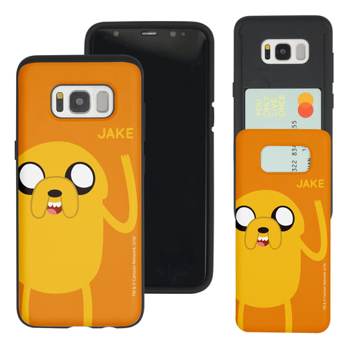 Galaxy S8 Case (5.8inch) Adventure Time Slim Slider Card Slot Dual Layer Holder Bumper Cover - Cuty Jake