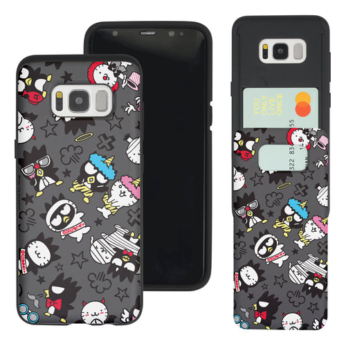 Galaxy Note5 Case Sanrio Slim Slider Card Slot Dual Layer Holder Bumper Cover - Bad Badtz-Maru Pattern