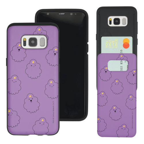 Galaxy S8 Plus Case Adventure Time Slim Slider Card Slot Dual Layer Holder Bumper Cover - Pattern Lumpy