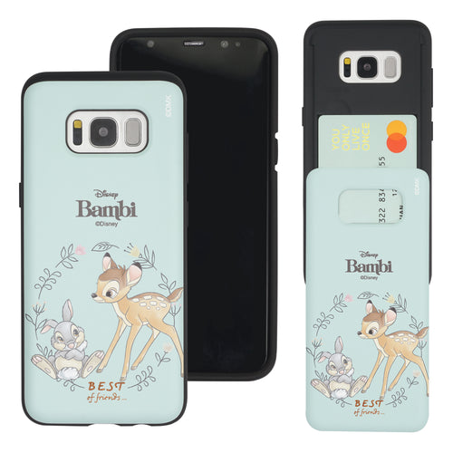 Galaxy S8 Case (5.8inch) Disney Bambi Slim Slider Card Slot Dual Layer Holder Bumper Cover - Full Bambi Thumper