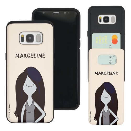 Galaxy S8 Case (5.8inch) Adventure Time Slim Slider Card Slot Dual Layer Holder Bumper Cover - Lovely Marceline