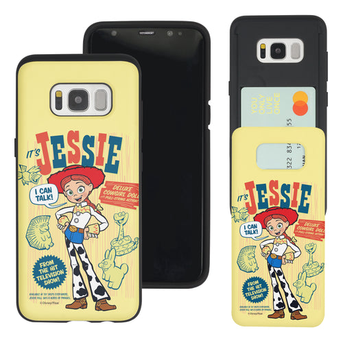 Galaxy S8 Plus Case Toy Story Slim Slider Card Slot Dual Layer Holder Bumper Cover - Full Jessie