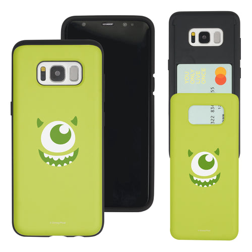 Galaxy S8 Plus Case Monsters University inc Slim Slider Card Slot Dual Layer Holder Bumper Cover - Face Mike