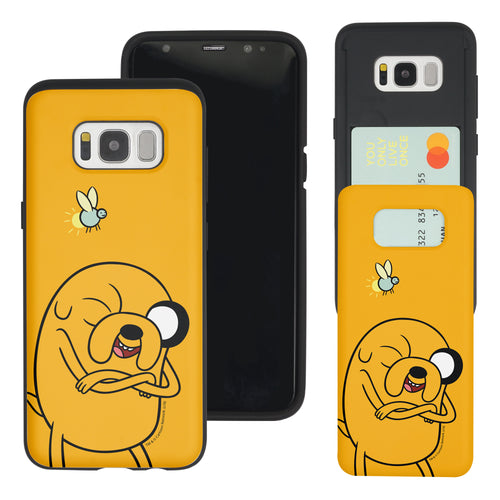 Galaxy S7 Edge Case Adventure Time Slim Slider Card Slot Dual Layer Holder Bumper Cover - Vivid Jake