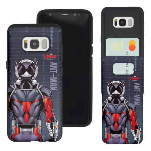Galaxy S7 Edge Case Marvel Avengers Slim Slider Card Slot Dual Layer Holder Bumper Cover - Back Ant Man