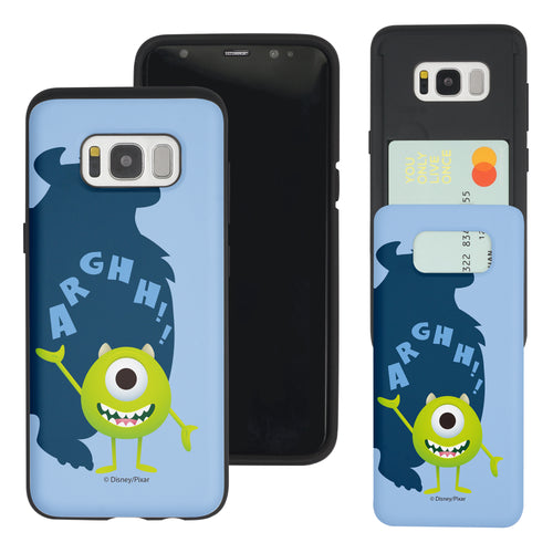 Galaxy S8 Plus Case Monsters University inc Slim Slider Card Slot Dual Layer Holder Bumper Cover - Simple Mike