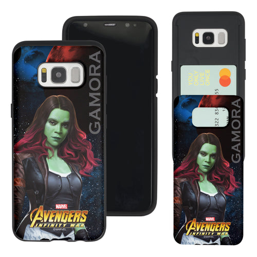 Galaxy S7 Edge Case Marvel Avengers Slim Slider Card Slot Dual Layer Holder Bumper Cover - Infinity War Gamora