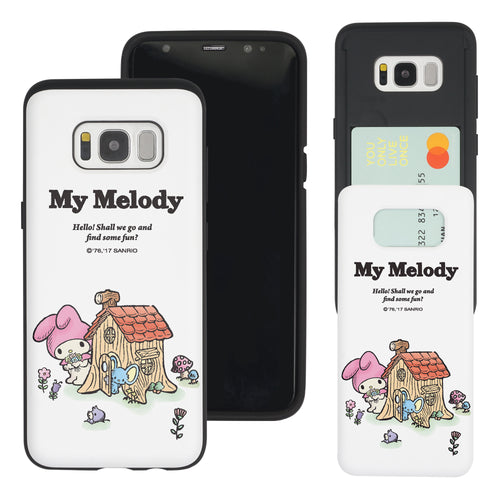 Galaxy S8 Case (5.8inch) Sanrio Slim Slider Card Slot Dual Layer Holder Bumper Cover - My Melody House