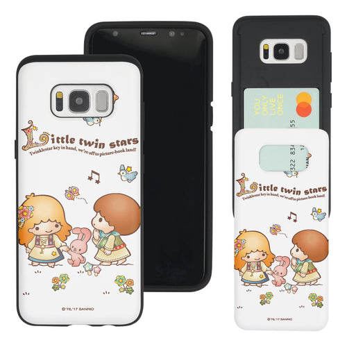 Galaxy Note5 Case Sanrio Slim Slider Card Slot Dual Layer Holder Bumper Cover - Little Twin Stars Rabbit