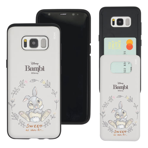 Galaxy S8 Case (5.8inch) Disney Bambi Slim Slider Card Slot Dual Layer Holder Bumper Cover - Full Thumper
