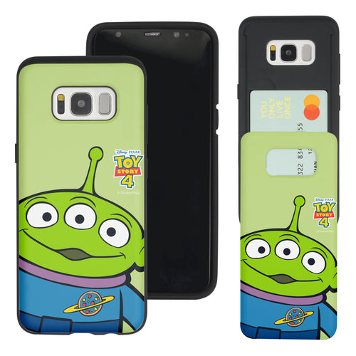 Galaxy S8 Plus Case Toy Story Slim Slider Card Slot Dual Layer Holder Bumper Cover - Wide Alien