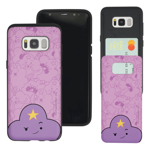 Galaxy S7 Edge Case Adventure Time Slim Slider Card Slot Dual Layer Holder Bumper Cover - Pattern Lumpy Big