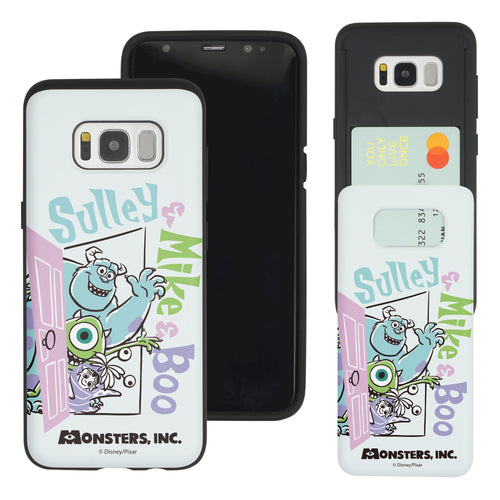 Galaxy S8 Plus Case Monsters University inc Slim Slider Card Slot Dual Layer Holder Bumper Cover - Cartoon Boo