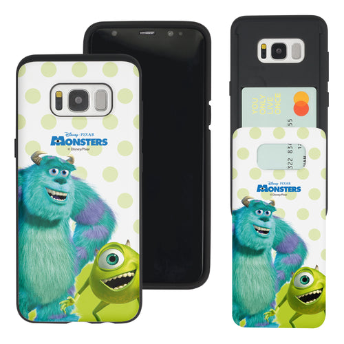 Galaxy S8 Plus Case Monsters University inc Slim Slider Card Slot Dual Layer Holder Bumper Cover - Movie Mike Sulley
