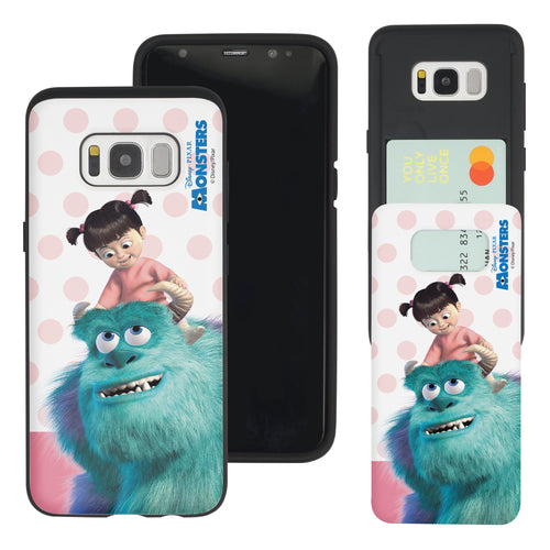 Galaxy S8 Plus Case Monsters University inc Slim Slider Card Slot Dual Layer Holder Bumper Cover - Movie Boo