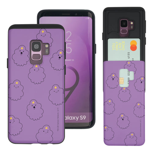 Galaxy S9 Plus Case Adventure Time Slim Slider Card Slot Dual Layer Holder Bumper Cover - Pattern Lumpy