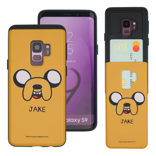 Galaxy S9 Plus Case Adventure Time Slim Slider Card Slot Dual Layer Holder Bumper Cover - Jake