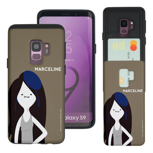 Galaxy S9 Plus Case Adventure Time Slim Slider Card Slot Dual Layer Holder Bumper Cover - Cuty Marceline