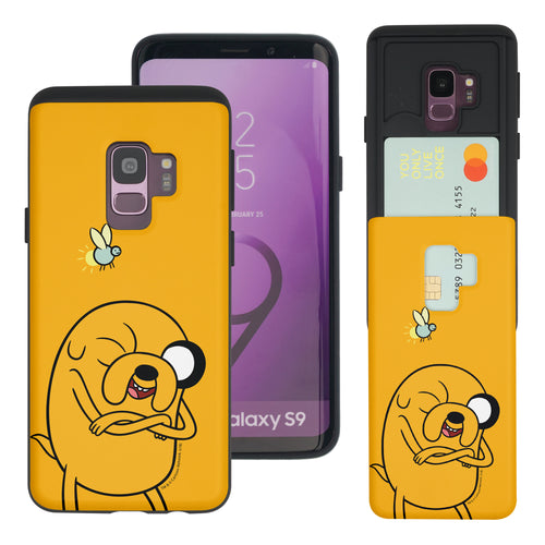 Galaxy S9 Plus Case Adventure Time Slim Slider Card Slot Dual Layer Holder Bumper Cover - Vivid Jake