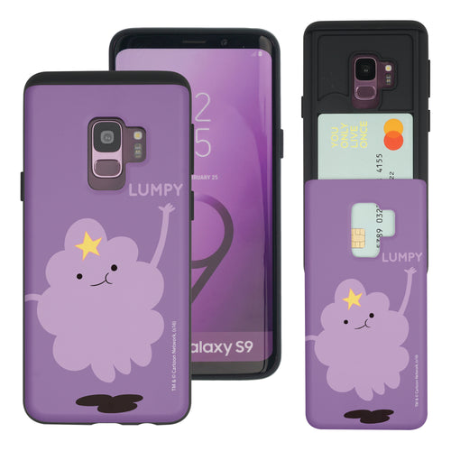 Galaxy S9 Plus Case Adventure Time Slim Slider Card Slot Dual Layer Holder Bumper Cover - Cuty Lumpy