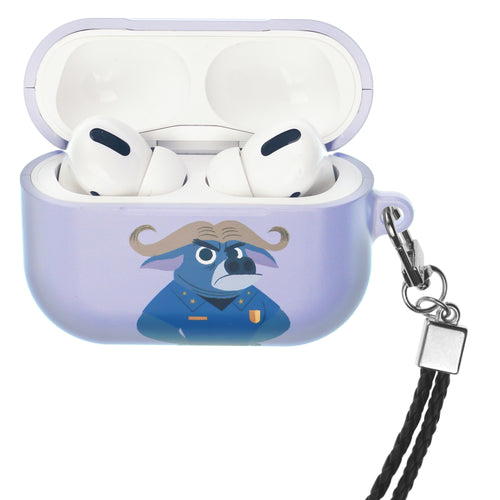 Disney AirPods Pro Case Neck Lanyard Hard PC Shell Strap Hole Cover - Zootopia Chief