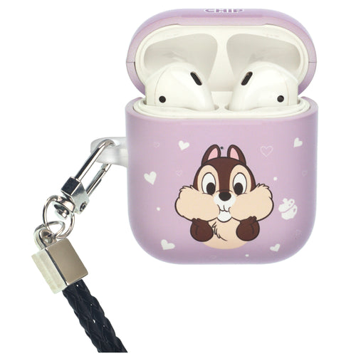 Disney AirPods Case Neck Lanyard Protective Hard PC Shell Strap Hole Cover - Chip