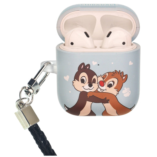 Disney AirPods Case Neck Lanyard Protective Hard PC Shell Strap Hole Cover - Chip and Dale