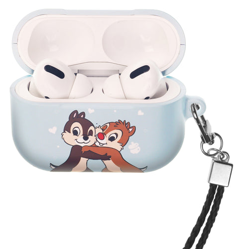 Disney AirPods Pro Case Neck Lanyard Hard PC Shell Strap Hole Cover - Chip and Dale