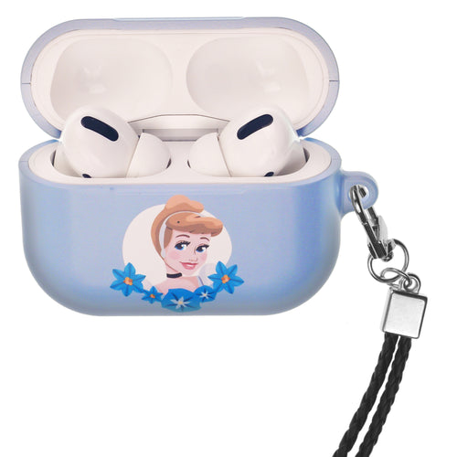 Disney Princess AirPods Pro Case Neck Lanyard Hard PC Shell Strap Hole Cover - Cinderella