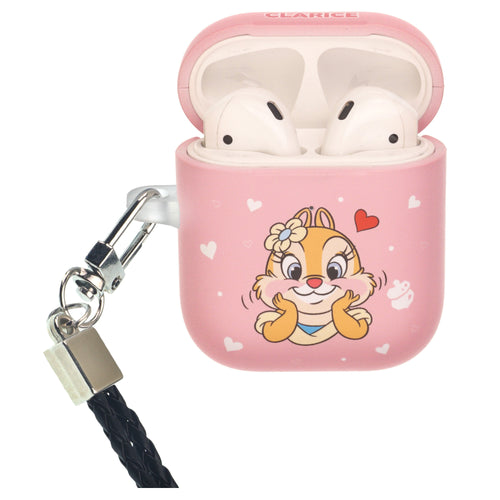 Disney AirPods Case Neck Lanyard Protective Hard PC Shell Strap Hole Cover - Clarice