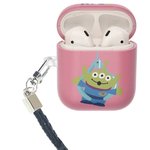 Toy Story 4 AirPods Case Neck Lanyard Protective Hard PC Shell Strap Hole Cover - Cute Alien